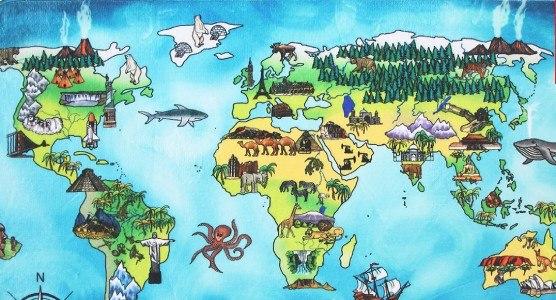 World Map 76,5x117 cm